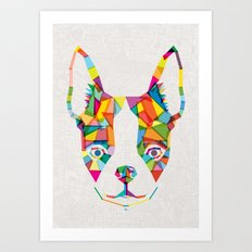Rainbow Bulldog Art Print