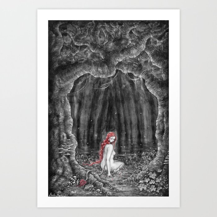 Skogsrået Art Print