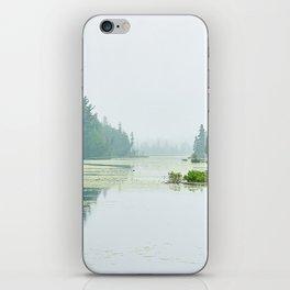 Foggy lake iPhone Skin
