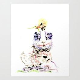 Candy floss day Art Print