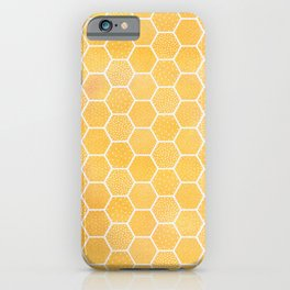 Yellow Honeycomb Pattern iPhone Case