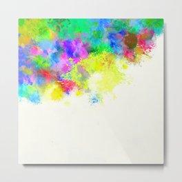 Paint Splashes Metal Print