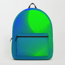Blue and Green Burst Backpack