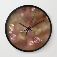 whatever Wall Clocks featuring whatever by Bunny Noir