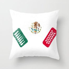 Funny Air Accordion Legend graphic Gift Mexican Flag print Throw Pillow