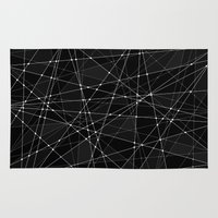 constellations Area & Throw Rugs featuring Constellations 3 by Dood_L