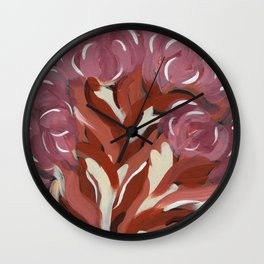 Loose and Abstract Floral 2 of 2 Wall Clock