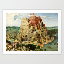 The Tower of Babel by Pieter Bruegel the Elder, 1563 Art Print