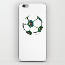 Floral Soccer Ball iPhone Skin