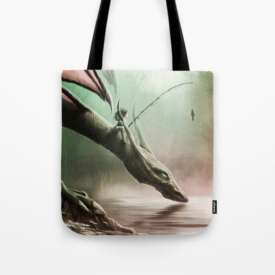 Fishing On The Drinking Dragon Tote Bag