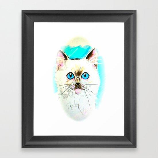Kitty Framed Art Print