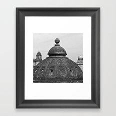 Glasgow domes Framed Art Print