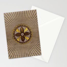 Seal of Shamash - Wood burned with gold accents Stationery Cards