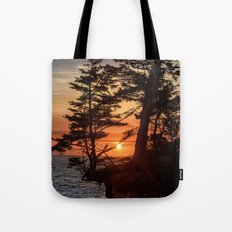 Sunset through the Trees Tote Bag