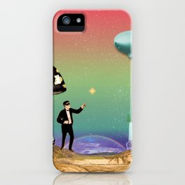 the magician in the land of mushrooms iPhone Case