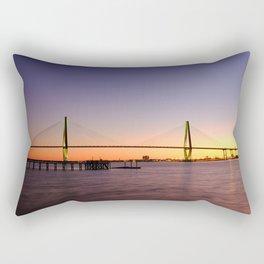 Arthur Ravenel Jr. Bridge in Charleston, South Carolina USA during sunset. Rectangular Pillow