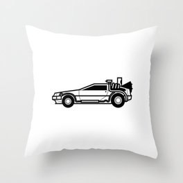 DeLorean Time Machine Throw Pillow