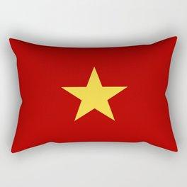 vietnam country flag star Rectangular Pillow