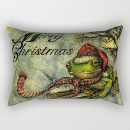 Felipe the Jolly Holiday Frog Rectangular Pillow