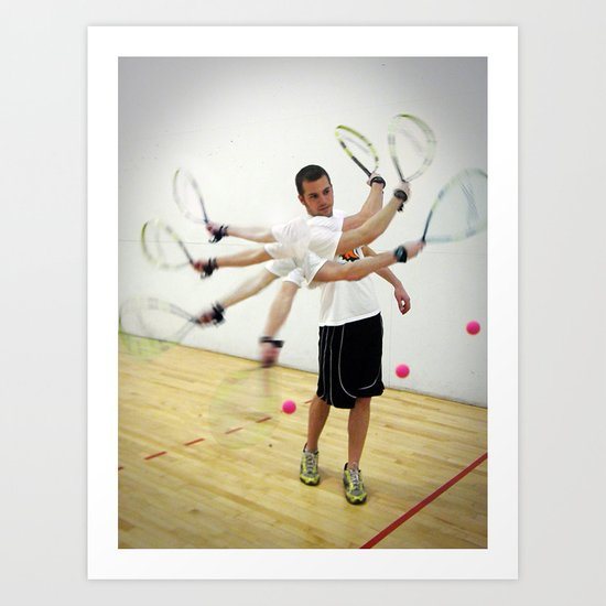 Photo Sequence-Racquetball  Art Print