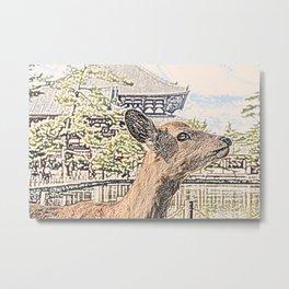 Kyoto Nara Japan ArtWork Painting Metal Print