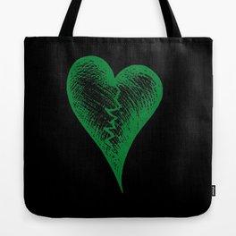 Green Heart Tote Bag