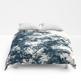 Blue Leaves #1 Comforters