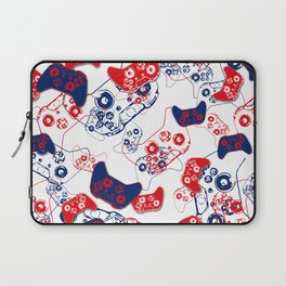 Video Game Red White & Blue 3 Laptop Sleeve