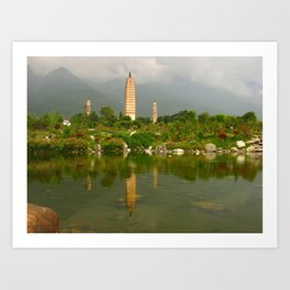 Three Pagodas Art Print