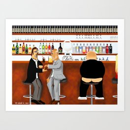 Corky the Bartender Art Print