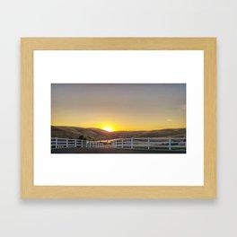 Sunrise on September 12th Framed Art Print