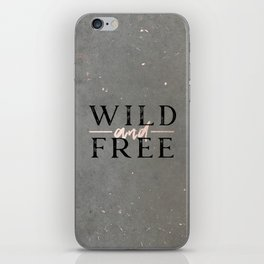 Wild and Free Rose Gold iPhone Skin