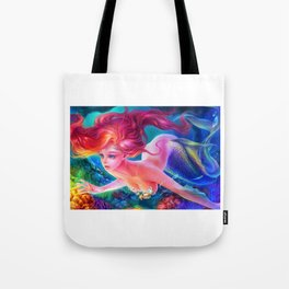 Sleepless Nights-Ocean Nights(the Little Mermaid) Tote Bag