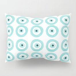 Baby Blue Evil Eye Pillow Sham