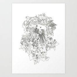 Ivy Crest Art Print