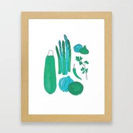 Retro Veggies Framed Art Print