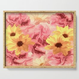Summer Day Floral Serving Tray