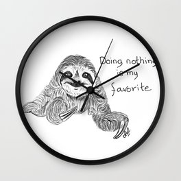 Doing nothing is my favorite Wall Clock