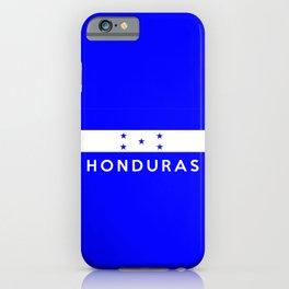 Honduras country flag name text iPhone Case