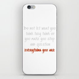 Carrie Fisher Question Quote iPhone Skin