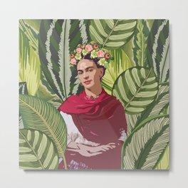 Wild Frida Kahlo Metal Print