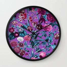 Romantic Floral Pattern Wall Clock