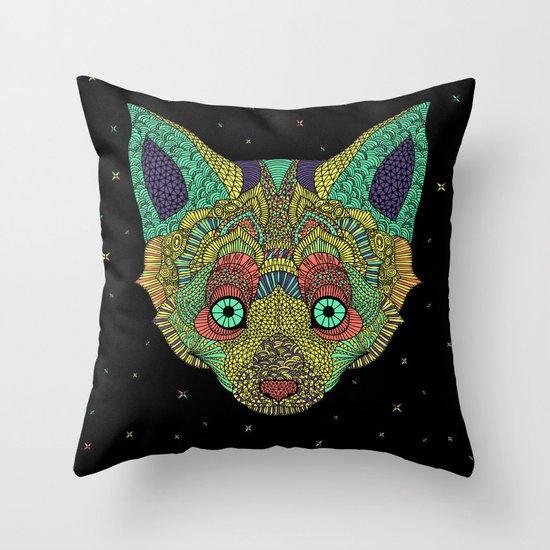 Intergalactic Fox Throw Pillow