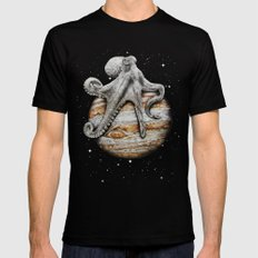 Celestial Cephalopod MEDIUM Mens Fitted Tee Black