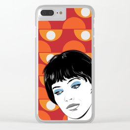 Vivre sa vie Clear iPhone Case