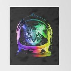 Astronaut Cat Throw Blanket