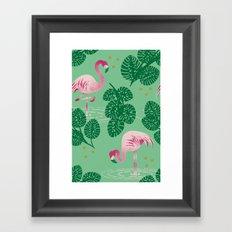 Flamingo Friends Framed Art Print