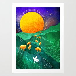 The Golden Bison Art Print