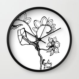 39. Flowers Wall Clock