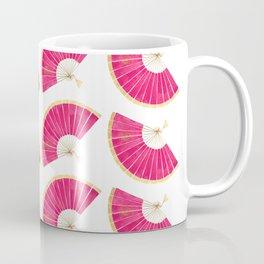 M's Folding Fan Gold and Pink Coffee Mug